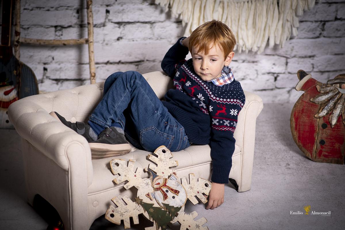 Sesión de fotos de Navidad, Fotografía infantil.